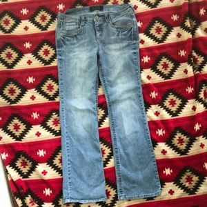 TCJ Jeans Company Stretch Distressed Blue Jens